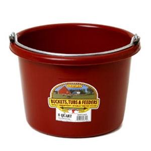 8 Quart Plastic Round Bucket - Burgundy