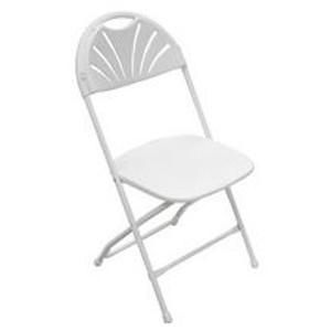 Fan Back Chair - White