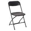 PRE, Black Plastic Folding Chair
