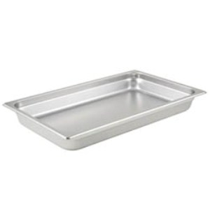 Chafer, 1/2-Size Anti-Jam Heavy Duty Stainless Steel Food Pan 2-1/2