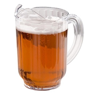 Beverage, 60 oz. Clear Poly Pitcher