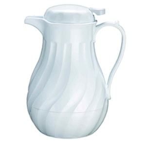 Beverage, 42 oz. White Swirl Insulated Server