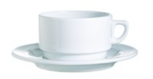 Tableware, White Undecorated Coffee Cup Saucer, 6 1/2