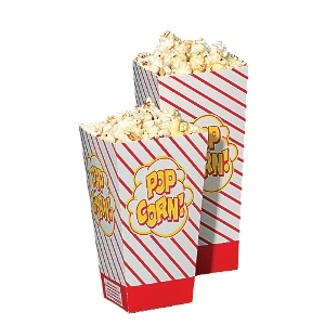 Concessions, 47 Large Scoop Popcorn Boxes, Set of 250