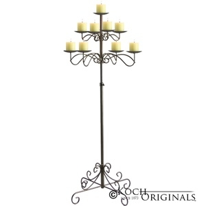 Candelabra, 9 Light Tree Floor, Onyx Bronze