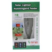 Songbird Essentials Solar Powered Color Changing Hummingbird Feeder