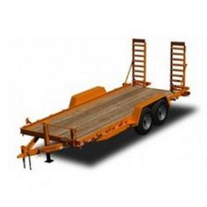 Kaufman, 12,000 GVWR16 ft. Wood Deck Skid Steer Equipment Trailer