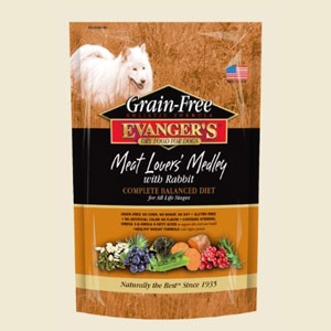 Evanger's Grain-Free Meat Lover's Medley with Rabbit Dry Food 4.4lb