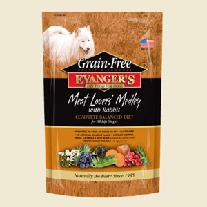 Evanger's Grain-Free Meat Lover's Medley with Rabbit Dry Food