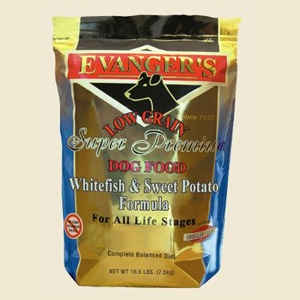 Evanger's Whitefish and Sweet Potato Dry Dog Food 16.5lb