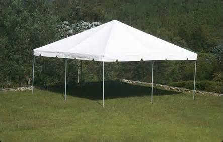 Frame tent: 20' x 20'