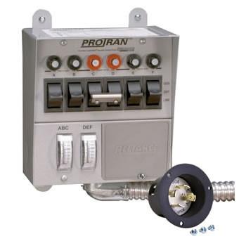6 Circuit Generator Transfer Switch