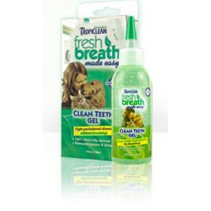 Tropiclean Fresh Breath Dog & Cat Clean Teeth Gel 2oz