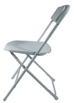 White Plastic Folding Children's Chair