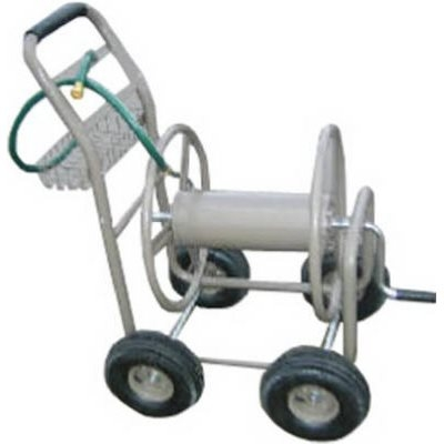 Green Thumb Garden Hose Reel Cart with Basket