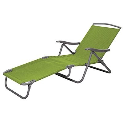 Courtyard Creations Sienna Patio Collection Sling Folding Lounge Chair