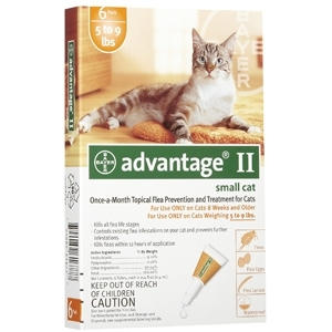 Advantage II for Small Cats 5 to 9 lbs.