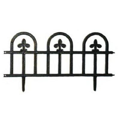 Black Estate Fence, 4-Pack