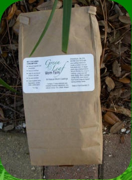 Green Leaf Worm Farm's All Natural Worm Castings Living Soil