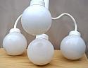 Chandelier, 4 Globe White Light