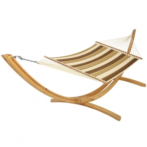 Hatteras Hammocks Quilted Hammock - Rio Birch Stripe