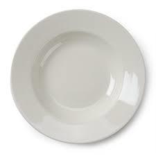 DISH, WHITE SOUP BOWL
