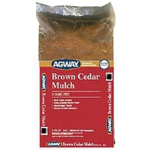 Agway, Brown Cedar Mulch 3 Cuft