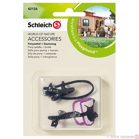 Schleich® Toys Pony Saddle & Bridle