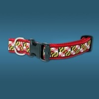 Maryland Flag Dog Collar