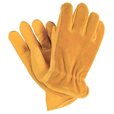 Grain Cowhide Leather Work Gloves