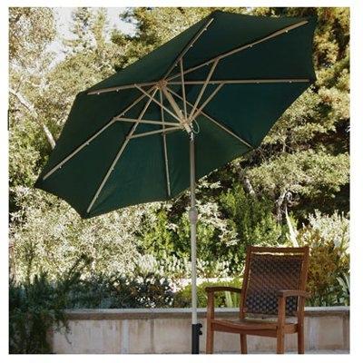 LED Solar Patio Umbrella, 9-Ft.
