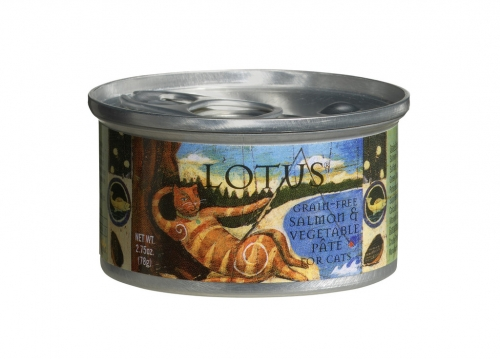 Lotus Salmon & Vegetable Pate for Cats - 2.75 oz