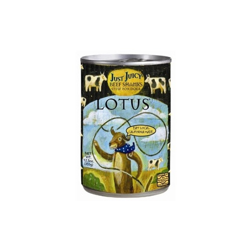 Lotus Canned Just Juicy Beef Shank Stew for Dogs - 12.5 oz