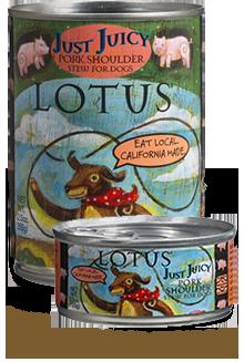 Lotus Just Juicy Pork Shoulder Stew for Dogs - 5.5 oz