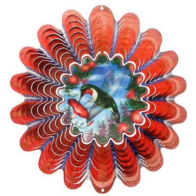 Iron Stop Animated Hummingbird Wind Spinner
