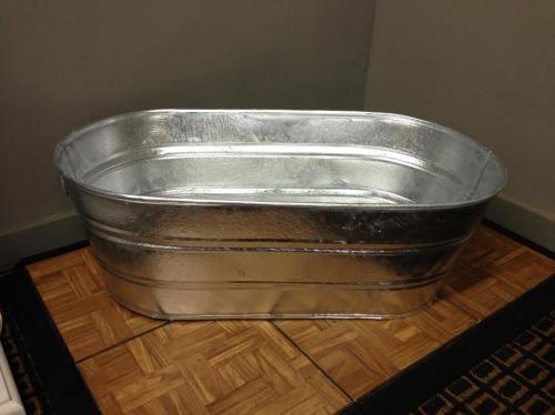 Galvanized Silver Tub