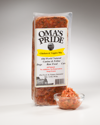 Oma's Pride Frozen Chicken & Vegetable Mix 1 lb, 2 lbs, 5 lbs, 10 lbs