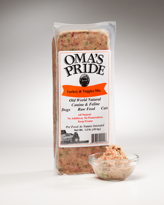 Oma's Pride Frozen Turkey & Vegetable mix 1 lbs, 2 lbs, 5 lbs, 10 lbs