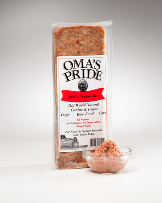 Oma's Pride Frozen Beef & Vegetable Mix 1 lb, 2 lbs, 5 lbs