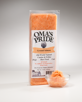 Oma's Pride Frozen Ground Salmon 1 lb