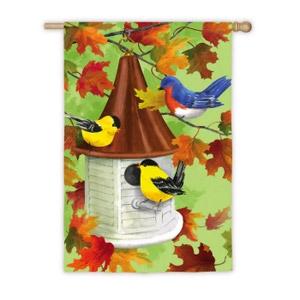 Fall Birdhouse Flag