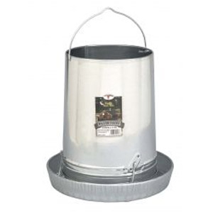 30 lb. Galvanized Hanging Poultry Feeder with Pan