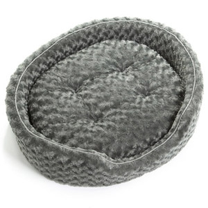 FurHaven™ Large Stripe Oval Pet Bed