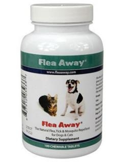 Flea Away™, the Natural Flea, Tick, and Mosquito Repellent. CHEWABLE TABLETS - 100 Count
