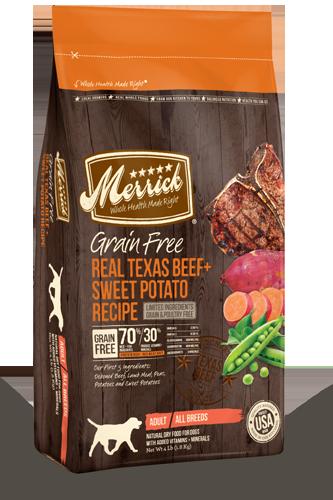 Merrick Grain Free Real Texas Beef and Sweet Potato 4 lb.