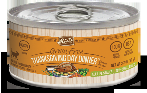 Merrick Classic Small Breed Thanksgiving Day Dinner Can Dog Food  3.2oz