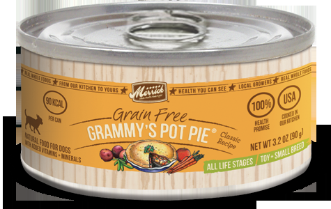 Merrick Classic Small Breed Grammy's Pot Pie Can Dog Food  3.2oz