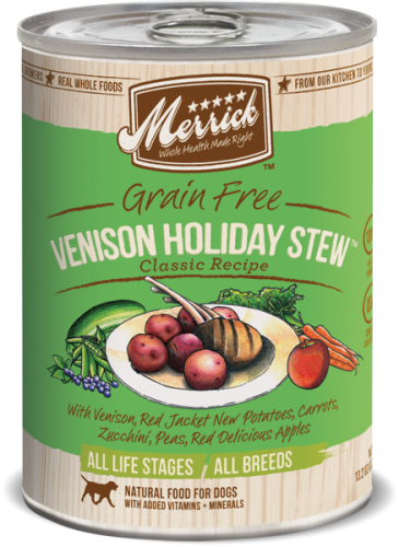 Merrick Venison Holiday Stew Can Dog  13.2 oz.