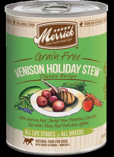 Merrick Venison Holiday Stew Can Dog 13.2 oz.