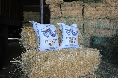 Feed Sacks and Straw Bales